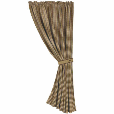 Hiend Accents 48x84 Crestwood Houndstooth Rod-Pocket Curtain Panel