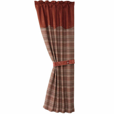 Hiend Accents 48x84 Silverado Coordinating StripeCurtai Rod-Pocket Curtain Panel