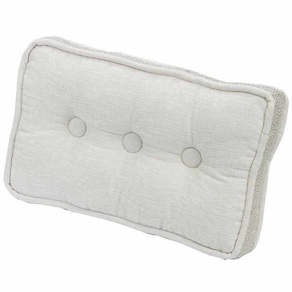 Hiend Accents 10x17 Button Box Bed Rest Pillow