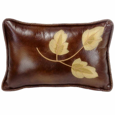 Hiend Accents 12x19 Embroidery Leaf Pillow Bed Rest Pillow