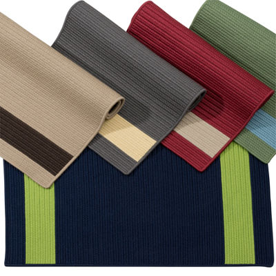 Colonial Mills Tanglewood Stripe Braided Rectangular Reversible Rugs