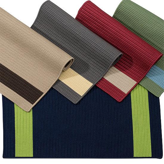 Colonial Mills Tanglewood Stripe Braided Rectangular Reversible Indoor/Outdoor Rugs