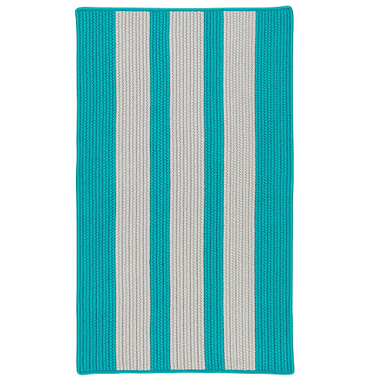 Colonial Mills Cayman Stripe Braided Rectangular Reversible Indoor/Outdoor Rugs