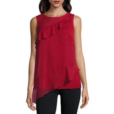 Alyx Sleeveless Round Neck Woven Blouse