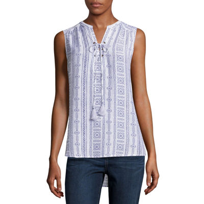 St. John's Bay Sleeveless Popover Top