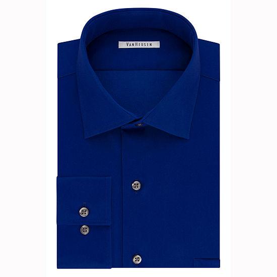 Van Heusen Flex Cool Collar Reg Fit Long-Sleeve Woven Dress Shirt