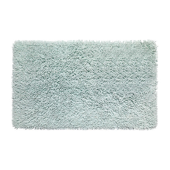 "Kensington Shaggy Chenille Cotton Noodle Bath Bathroom Non Skid Rug 21"" x 34"""