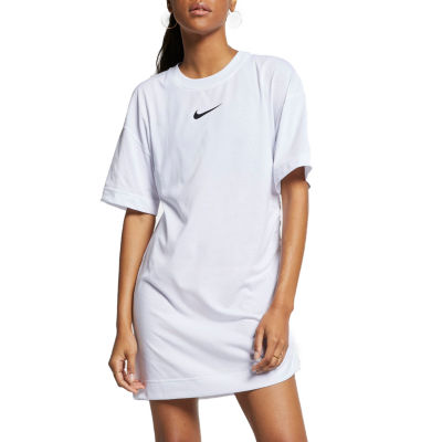 Nike Nsw Swoosh Tunic Womens Crew Neck Short Sleeve Sweatshirt