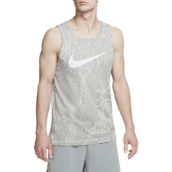 Nike Mens Crew Neck Sleeveless Moisture Wicking Tank Top