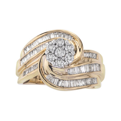 1 CT. T.W. Diamond 10K Two-Tone Gold Swirl Ring