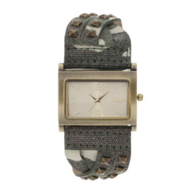 Decree® Womens Camo Stud Bracelet Watch