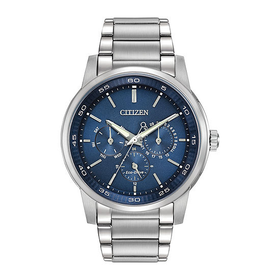 Citizen Corso Mens Multi-Function Silver Tone Stainless Steel Bracelet Watch-Bu2010-57l