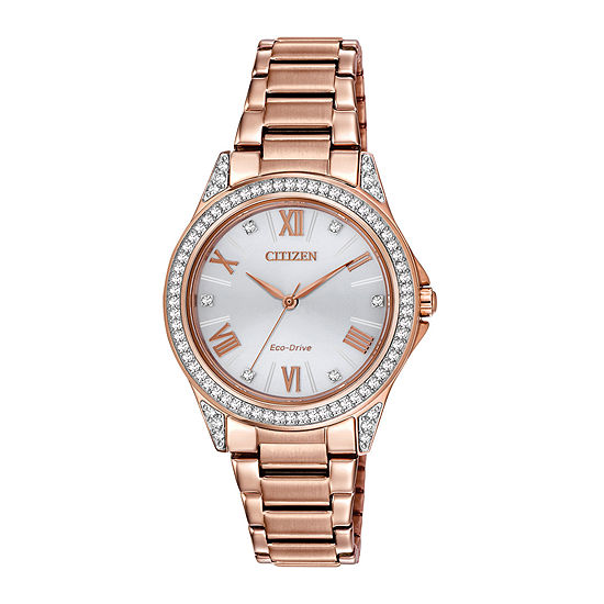 Drive from Citizen Womens Rose Goldtone Stainless Steel Bracelet Watch-Em0233-51a