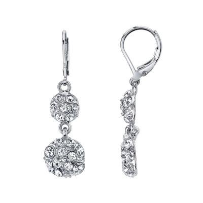 1928® Jewelry Crystal Fireball Double-Drop Earrings