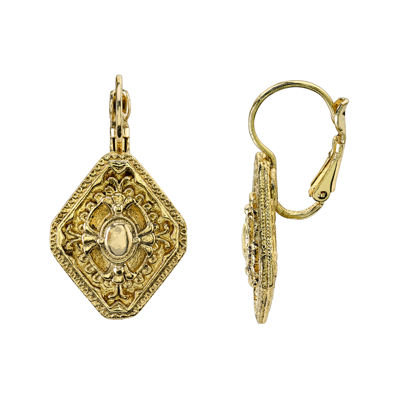 1928® Jewelry Marquise-Shaped Gold-Tone Earrings