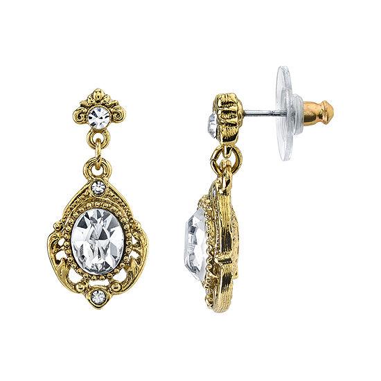 1928® Jewelry Crystal Gold-Tone Drop Earrings