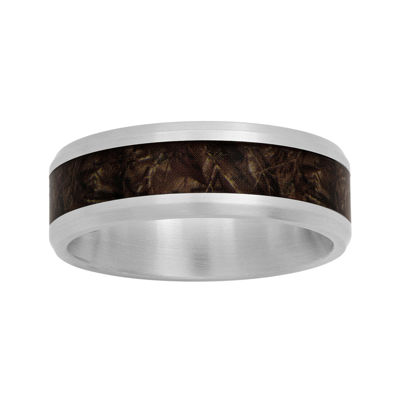 Mens Stainless Steel 8mm Wedding Band