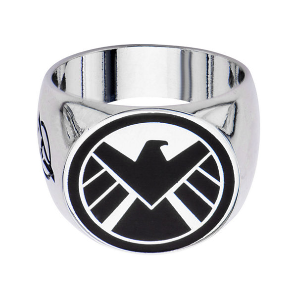 Marvel Agents of S.H.I.E.L.D. Logo Mens Stainless Steel Ring