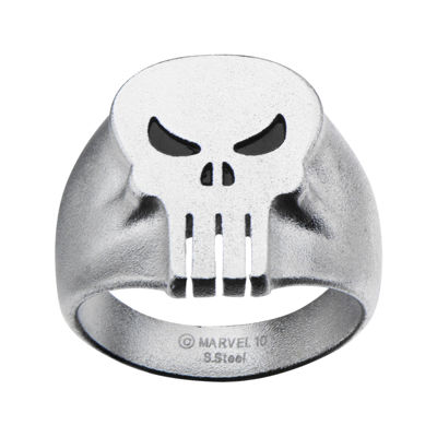 Marvel Punisher Skull Mens Stainless Steel Ring