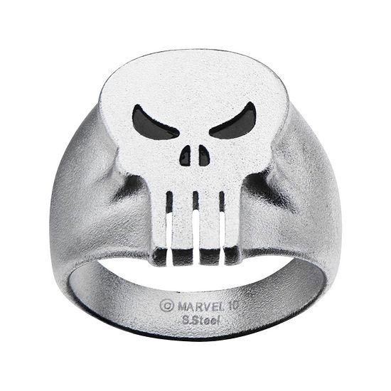 Marvel Punisher Skull Mens Stainless Steel Ring