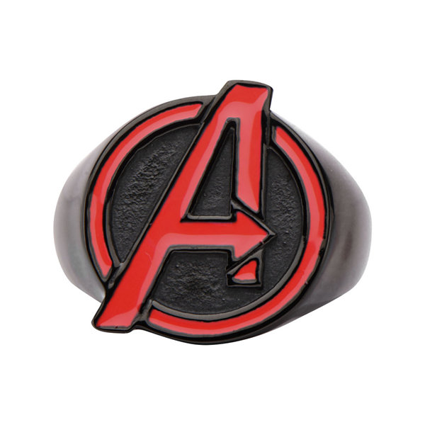 Marvel Avengers Mens Two-Tone Stainless Steel Ring