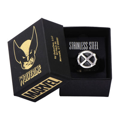 Marvel Wolverine Mens Two-Tone Stainless Steel Ring
