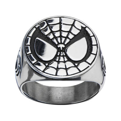 Fine Jewelry Marvel Spiderman Mens Stainless Steel Ring hB34TuN