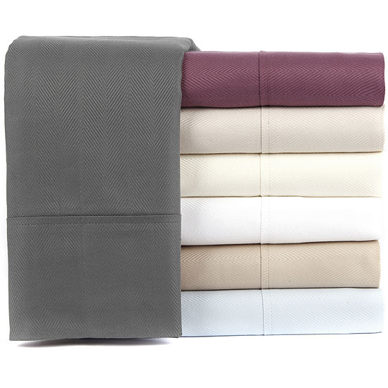 Knightsbridge Linens 600tc Cotton Herringbone Sheet Set