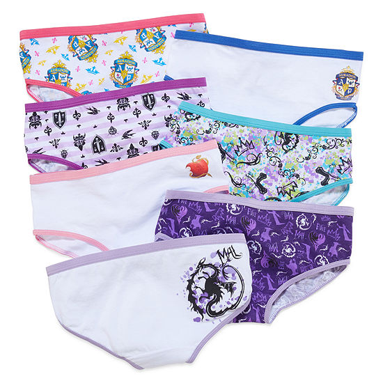 Girls 7 Pair Descendants Brief Panty Toddler