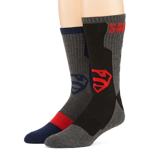 DC Comics® Superman 2-pk. Athletic Crew Socks