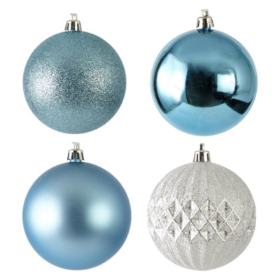 North Pole Trading Co. Nordic Frost Shatterproof Blue & Silver 6-pc. Christmas Ornament
