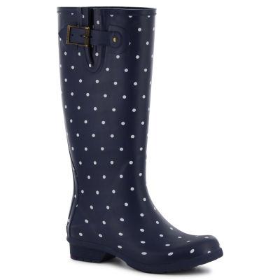 Chooka Fashion Classic Printed Dot Womens Waterproof Rain Boots