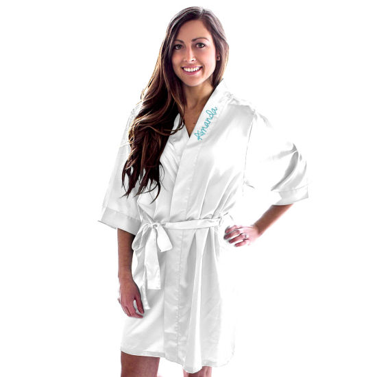 Cathy's Concepts Personalized Satin Womens Satin Kimono Robes