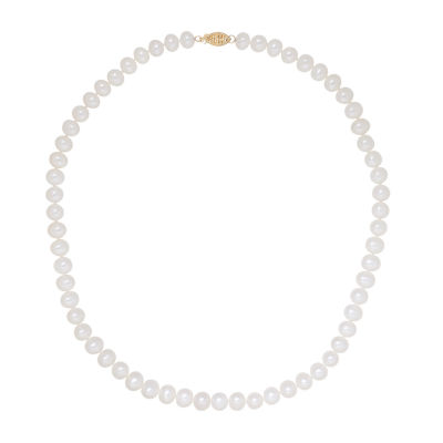 "Certified Sofia™ 6-6.5mm Cultured Freshwater Pearl 18"" Strand Necklace"