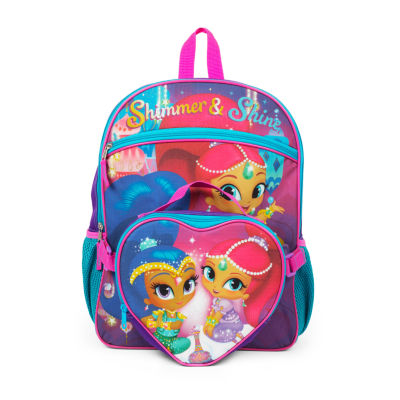 SHIMMER AND SHINE BACKPACK WITH HEART SHAPPED LUNCH TOTE SET