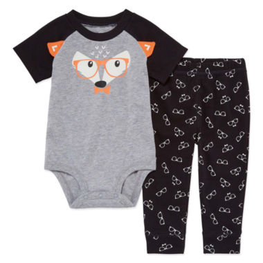 Okie Dokie 2-pc. Short Sleeve Bodysuit Set-Baby Boys