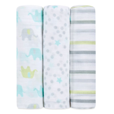 ideal baby by the makers of Aden + Anais  3-pc. Swaddle Blanket- Dreamy