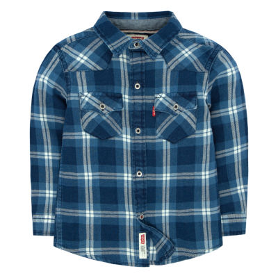 Levi's Barstow Western Long Sleeve Plaid Shirt-Preschool Boys