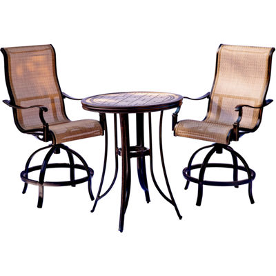 Hanover Monaco 3-pc. Patio Bar Set