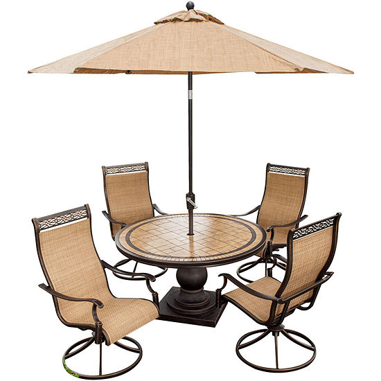 Hanover Monaco 5 Pc Patio Dining Set