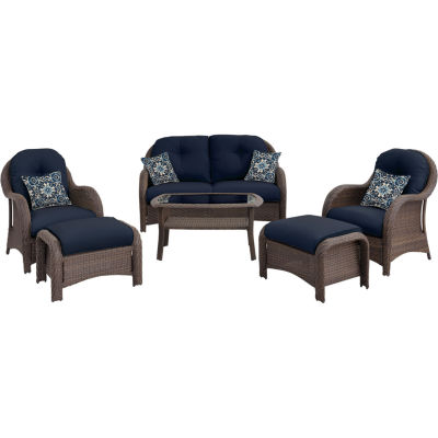 Hanover Woven Deep Seating 6-pc. Conversation Set