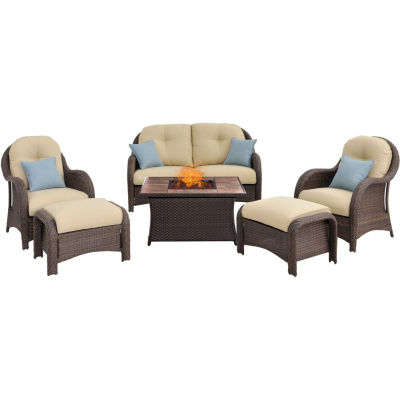 Hanover Newport 6-pc. Conversation Set