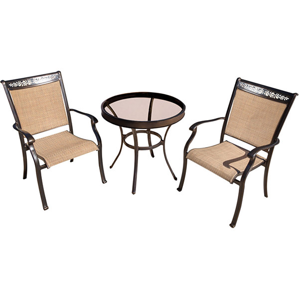 "Hanover Sling Dining Chairs + 30"" Table 3-pc. Bistro Set"
