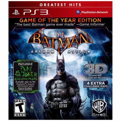 Batman Arkham Asylum Goty Batman Video Game-Playstation 3
