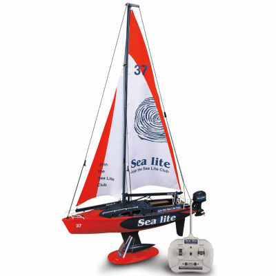 Full Function Radio Control Sail Boat - Red