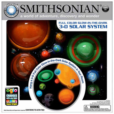 Smithsonian 3-D Hanging / Glowing Solar System