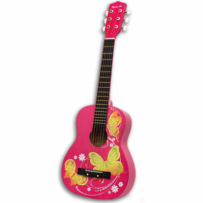 """30""""Acoustic Guitar Pink Butterfly"""