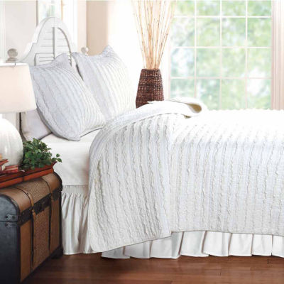 Greenland Home Fashions Ruffled Quilt Set