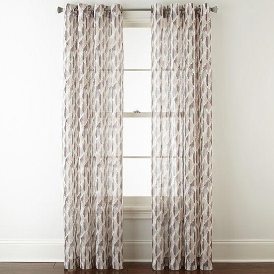 Studio Cooper Sheer Grommet-Top Single Curtain Panel