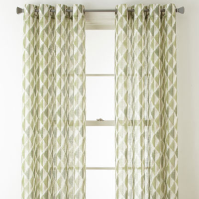 Studio Cooper Grommet-Top Sheer Curtain Panel